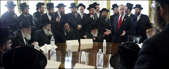 Mayor Michael R. Bloomberg met with Orthodox leaders and health officials at City Hall on Aug. 11 to discuss a practice that some rabbis consider integral to God's covenant with the Jews requiring circumcision.